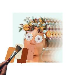 kobieta portret twarz collage collageartist collageoftheday womanportrait freetoedit srcsimplepaintsroke simplepaintsroke