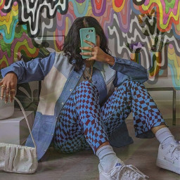 interesting art photography summer people 70s 70saesthetic vibes girl fashion trippy swag fancy chunky outfit drip aesthetic vintage 70style 70svibes rainbow colorful crazy luciamoon srccolorfulgrime colorfulgrime freetoedit