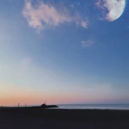 freetoedit beach photography sunset cloud moon fullmoon shootingstars sky nightsky nature stars madewithpicsart picsart