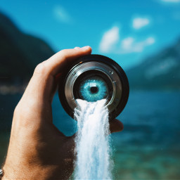 freetoedit eye waterfall challenge ircthroughyourprism throughyourprism