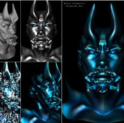 water elemental sculpture 3d