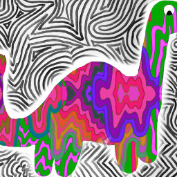 colorfulgrime dinosaur drawing psychadelic trippy trippyart rainbow colorful brontosaurus meltedcolors srccolorfulgrime freetoedit