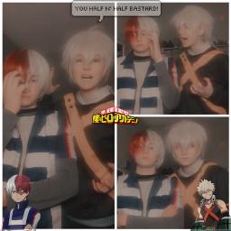 todoroki bakugou bnhacosplay mhacosplay cosplay imtoolazyforhashtags weeblet101 freetoedit