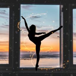 ballerina sillhouette interesting myedit myoriginaledit brushes stickers sea ocean dance freetoedit picsart challenge editchallenge stickerchallenge ircballerinesilhouette ballerinesilhouette