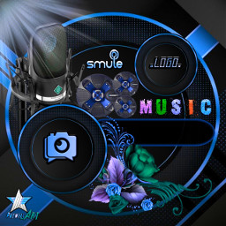 freetoedit eemput wallpaper background frame frames png template transparent gold cover coverphoto blue coversmule smule music voice microphone speaker bass