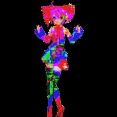 glitchcore hyperpop scenecore neoncore rainbowcore utaloid vocaloid teto kasaneteto anime otaku weeb scene glitch freetoedit
