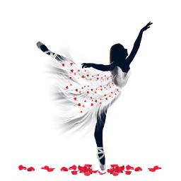 freetoedit ballerinesilhouette imageremixchallenge madewithpicsart ballerina ircballerinesilhouette