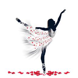 freetoedit ballerinasilhouette imageremixchallenge madewithpicsart ballerina ircballerinesilhouette