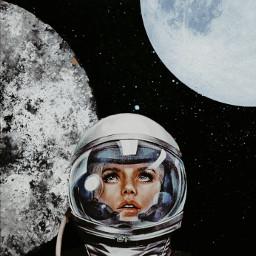 astronaut fiction fantasy space spaceart spacefiction planet planets girls femalepower explorer explorepage freetoedit