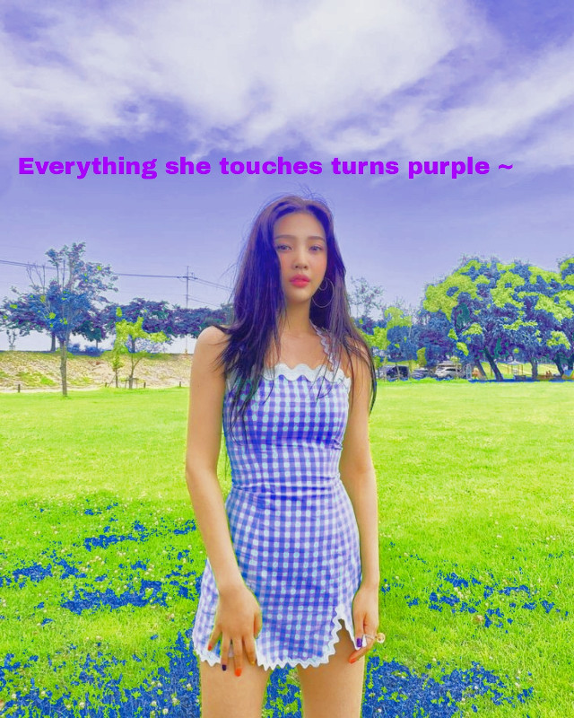 #Everything she touches Turns purple🤔