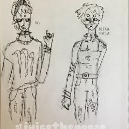 monsterenergy monsterenergydrink alt humanized art drawing doodle sketchbook penandink