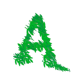 sfghandmade font greensticker leaves a lettera stickers letters alphabet writing picsarteffects freetoedit