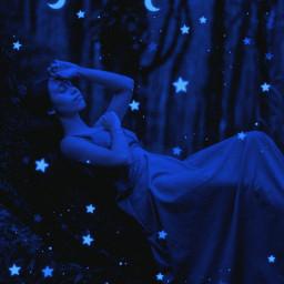 blue moon star dark darkness replay freetoedit