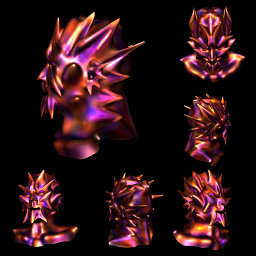 etheric elemental sculpture 3d paint