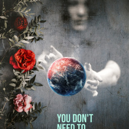 freetoedit earth earthday flower world text madewithpicsart myedit unsplash