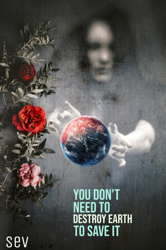 #freetoedit #earth #earthday #flower #world #text #madewithpicsart #myedit