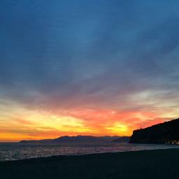 tramonto sunset spring mare respira earthday nature picsart pcmothernature mothernature