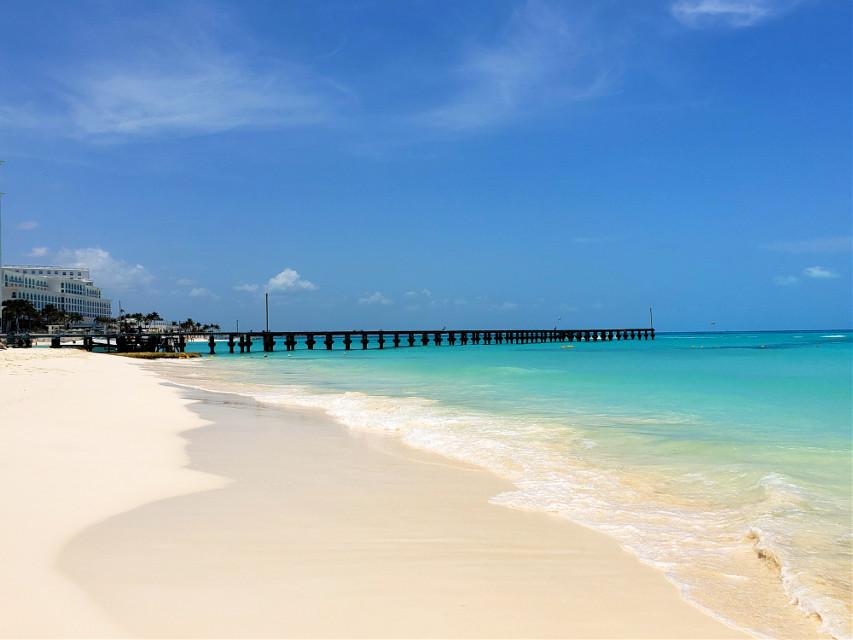 Beautiful Cancun beaches!!🏖🍹🌞🌊👍🤩#pier #cancun #vacay #funinthesun #travel #worldtraveler #2021 #vibes #blueocean #carribean #beachlife #destinations #mexico #relax #myoriginalphoto #travelphotography