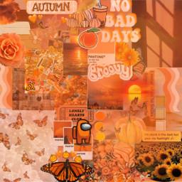 orange background wallpaper aesthetic sun freetoedit