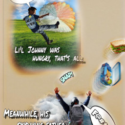 humour parachute skydiving clouds lunchtime investigation freetoedit ircdesignthebackpack designthebackpack