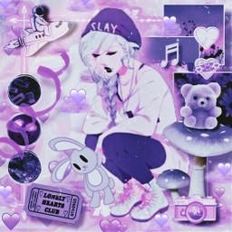purple heartclouds anime kawaii cute depressed srcpurpleclouds purpleclouds freetoedit