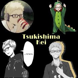 tsukishimakei tsukkishima kei haikyu freetoedit