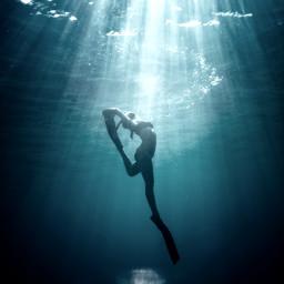 water girl lady woman youngwoman young younglady pretty mermaid fin finn fins ocean sea lake stream pool river freetoedit