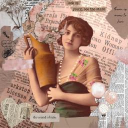 scrapbook collage edit pink paper brown enjoy freetoedit ecpaperaestheticframes paperaestheticframes
