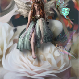 freetoedit edited art inspiration madewithpicsart artistic stickers magiceffects collage dreamscape fairy flowers artisticeffect