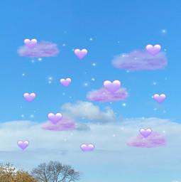 purpleandblue sky srcpurpleclouds purpleclouds freetoedit