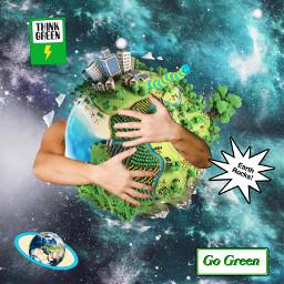 gogreen savetheworld savetheearth huggingworld world earth hug rcearthday2021 earthday2021 freetoedit