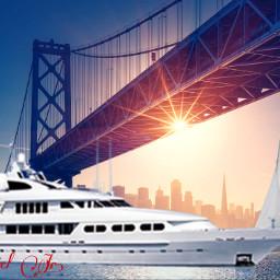 cruiseship sailboat bridge freetoedit