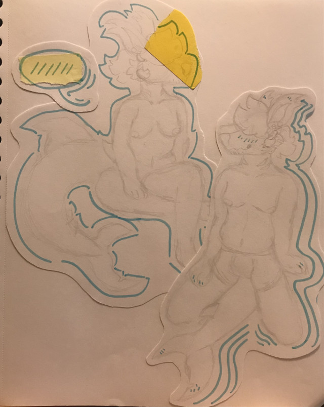 Ive been working on improving my body studies ^^ Heres my fella, Azul. I just love him sm and drawing them makes me so happy. Probably gonna digitalize these later, but ive been working on my art final and its taking all of my energy to do so-   🌊Taglist🌊 @xwild_flowerx (💛) @chickenugget232666  @critter_drawz-  @dumbdogg @krispymilk @littlekiwilime  @moais_on_da_island   @prisvyatoi_ananis  @x-cursed_soul-x  @xi-_rowlet_tea_-ix  @your_local_furry  #origionalart #traditionalart #myoc #sharkdog #canine #thisman