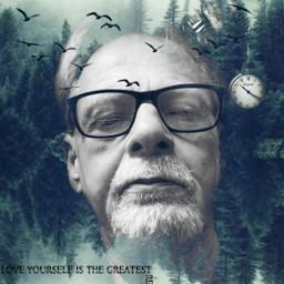 freetoedit forest man emotional highlighteffect