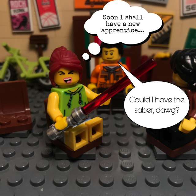 """Sith Carol. This would fit perfectly in a """"UEM Comics out of context"""" collection. #lego #legolife #starwars #sith #lightsaber #legophotography #legostarwars #comic #toy #toyphotography"""