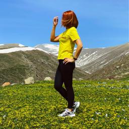 freetoedit girl nature spring