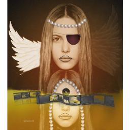 collage kolaż artisticportrait collageart freetoedit unsplash rcyinyangwings yinyangwings