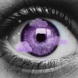 purpleclouds eye purpleeyes purpleye sparkles srcpurpleclouds freetoedit