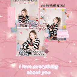 yeji itzy kpop pink pastel edit wallpaper freetoedit