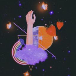 shape moon stars galaxy purlpe magic✨🌆 freetoedit magic