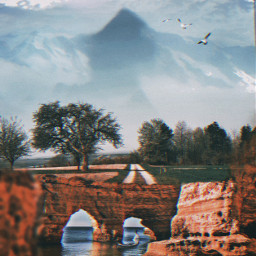 interesting sea mountain clouds skyview trees landscape boatsticker birdstickers doubleexposure photoblending imagination surreal surrealism surrealisticworld photooftheday remixed freetoedit