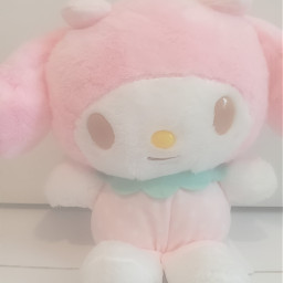 pink white yellow mymelody my melody mymelodysanrio mymelodycore sanriocore cute adorable plush plushy softcore kidocore fx soft