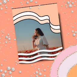 replay picsartreplay picsart fxeffects aesthetic waves wave photography frame cute kawaii edit girl glitter freetoedit