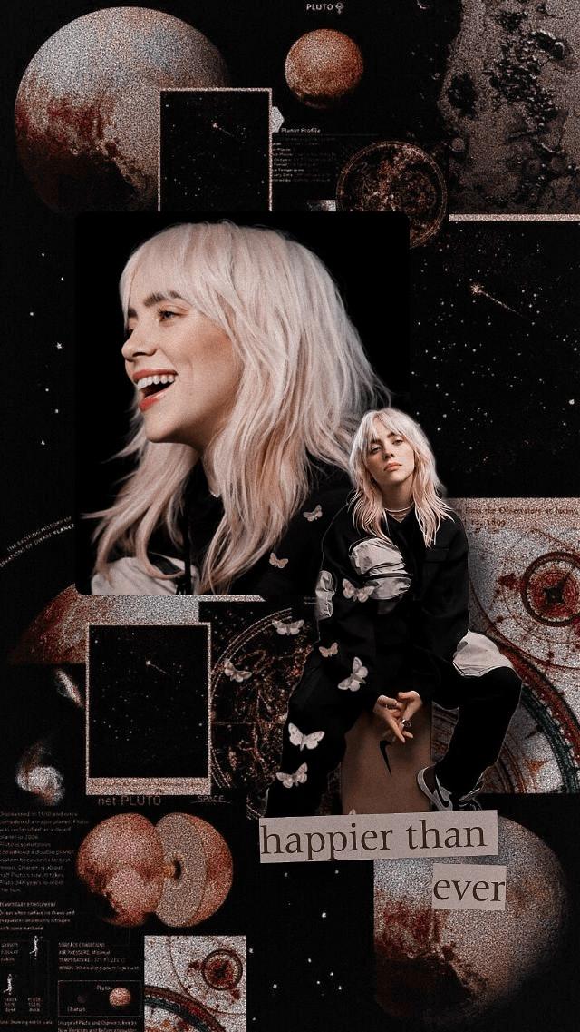 #billieeilish #aesthetic #wallpaper #happierthanever #blondehair #lockscreen