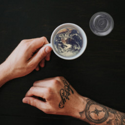 earth moon sun contest tatoo enjoy hotcoco coffee coffe cofee cofe freetoedit irccoffeetime coffeetime
