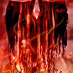 angel torment fire red skull cloth