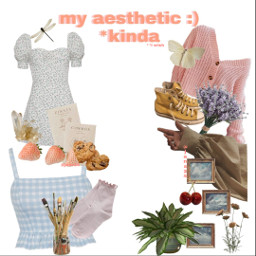 aesthetic flowers clothes dress strawberry pink blue socks pictures art shoes butterfly cottagecoreaesthetic cottagecore pastels cute hand cherry freetoedit
