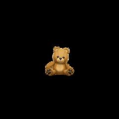 bear teddybear iphone emoji iphoneemoji iphonestickers cute heart brown aesthetic brownaesthetic remix remixit freetoedit