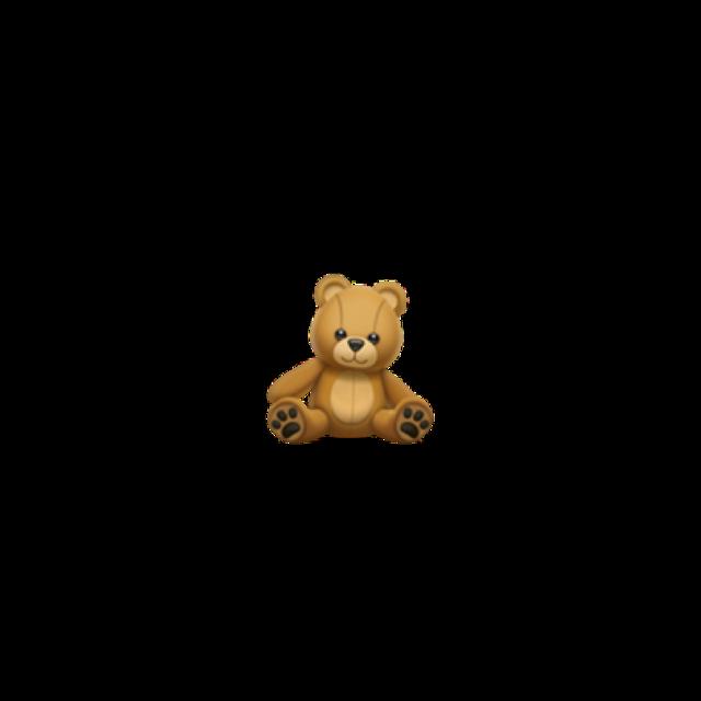 🧸 #bear #teddybear #iphone #emoji #iphoneemoji #iphonestickers #cute #heart #brown #aesthetic #brownaesthetic #remix #remixit