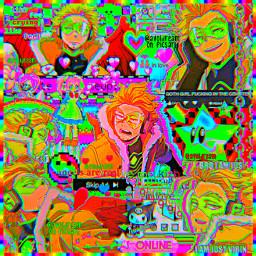hawks keigotakami mhaedit mha glitchcore scenecore kidcore indie weirdcore rainbowcore rainbow webcore cybergoth eyestrain goth void animecore glitchcoreedit emo cyber anime dabi toga todoroki
